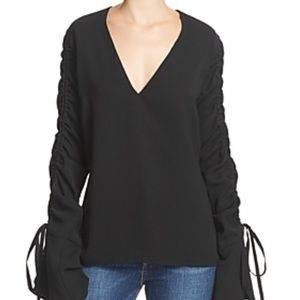C/MEO Collective Ruched Sleeve Top